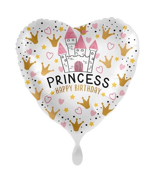 "Herz-Folienballon ""Princess"" - Happy Birthday"