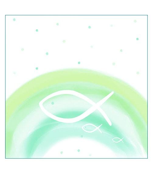 """Servietten """"Fische & Regenbogen"""" - grün - 20 Stück"""