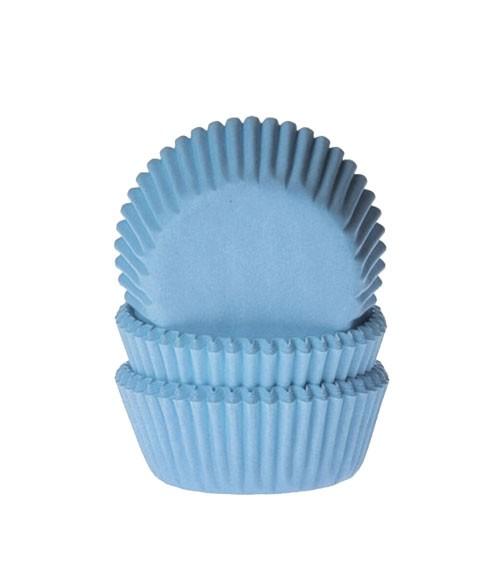 "60 Mini-Muffinförmchen ""Uni"" - hellblau"
