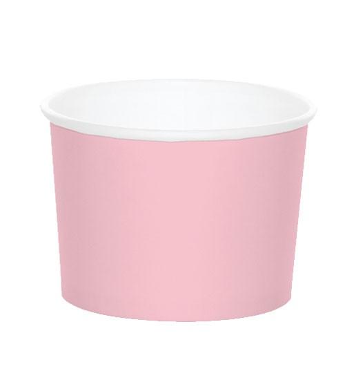 Eisbecher - rosa - 6 Stück