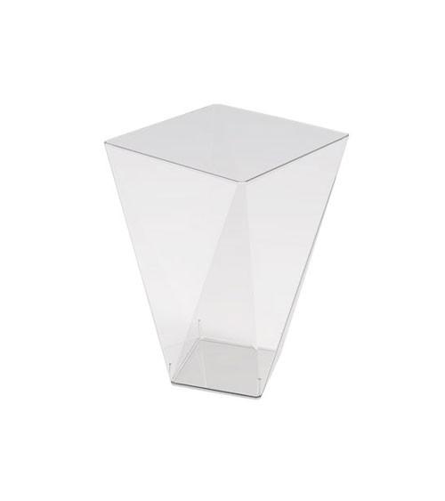 Kleine Schalen in Diamantform - transparent - 150 ml - 12 Stück