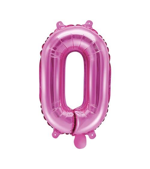 "Folienballon Zahl ""0"" - pink - 35 cm"
