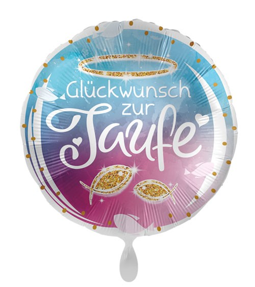 "Folienballon ""Glückwunsch zur Taufe"""