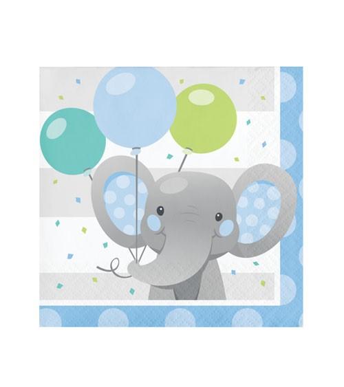 """Cocktail-Servietten """"Little Elephant - Boy"""" - 16 Stück"""