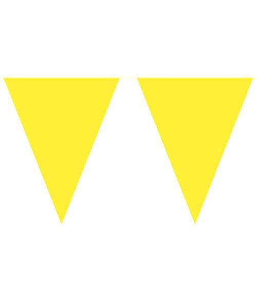 XL-Wimpelgirlande aus Kunststoff - gelb - 10 m