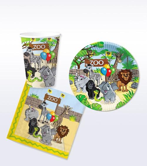"Deko-Set ""Zoo"" - 36-teilig"