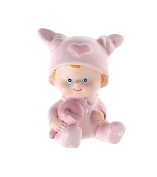 """Deko-Figuren """"Baby"""" - rosa - 2 Stück"""