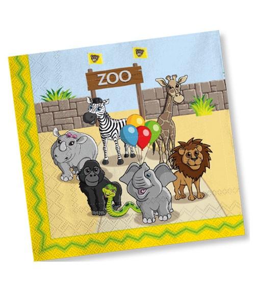 """Servietten """"Zoo"""" - 20 Stück"""