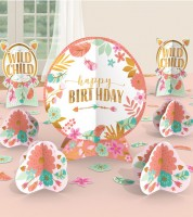 "Tischdekoration ""Boho Birthday Girl"" - 27-teilig"