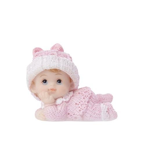 """Deko-Figur """"Baby mit Mütze"""" - rosa - 4 cm"""