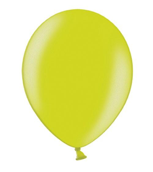 Metallic-Luftballons - limegreen - 10 Stück