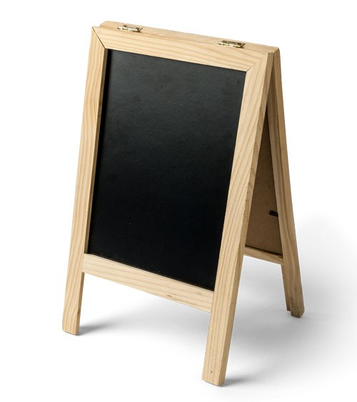 Kreidetafel-Aufsteller aus Holz - 32 x 20 cm