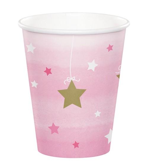 """Pappbecher """"One Little Star - Girl"""" - 8 Stück"""