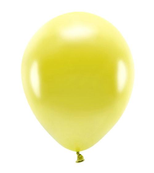 Metallic-Ballons - gelb - 30 cm - 10 Stück