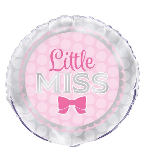 "Runder Folienballon ""Little Miss"""