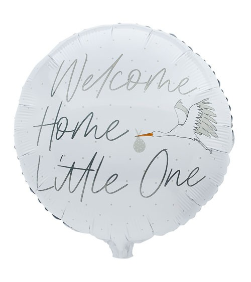 "Runder Folienballon ""Welcome Home Little One"" - 55 cm"