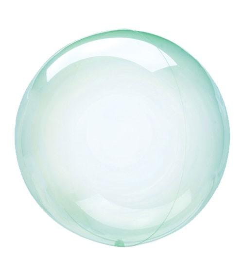 "Kugel-Folienballon ""Clearz Crystal"" - grün - 45-56 cm"