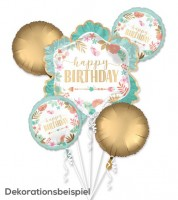 "Folienballon-Set ""Boho Birthday Girl"" - 5-teilig"