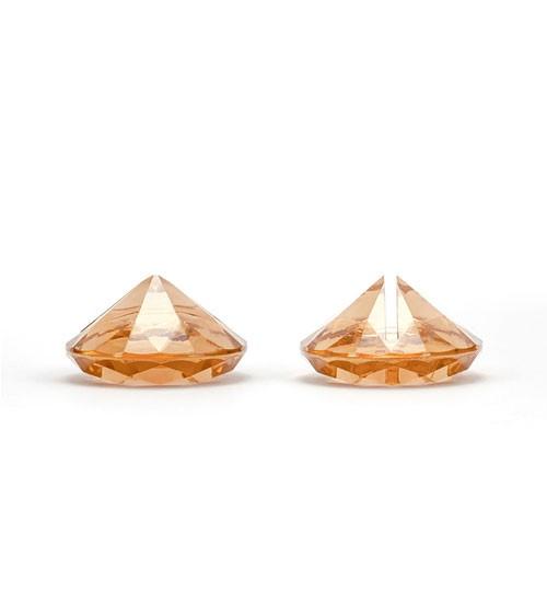 """Tischkartenhalter """"Diamant"""" - gold-orange - 10 Stück"""