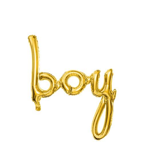 "Script-Folienballon ""Boy"" - gold - 64 x 74 cm"