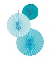 """Papierfächer-Set """"Farbmix Aqua"""" - 3-teilig"""