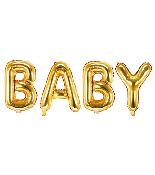 "Folienballon-Set ""BABY"" - gold - 35 cm"