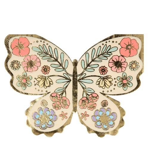 """Shape-Servietten """"Floral Butterfly"""" - 16 Stück"""