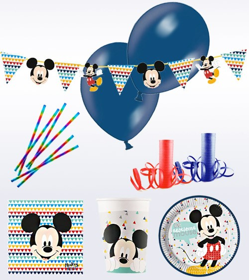 "Deko-Set ""Mickey Maus"" - 69-teilig"