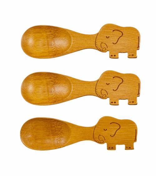 "Baby-Löffel-Set aus Bambus ""Elefant"" - 3-teilig"