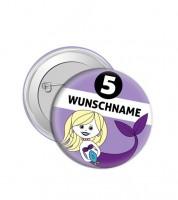 """Dein Button """"Meerjungfrau"""" - Wunschtext"""