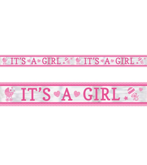 "Folienbanner ""It's a Girl"" - 7,62 m"