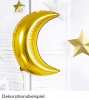 "Supershape-Folienballon ""Mond"" - gold - 60 cm"