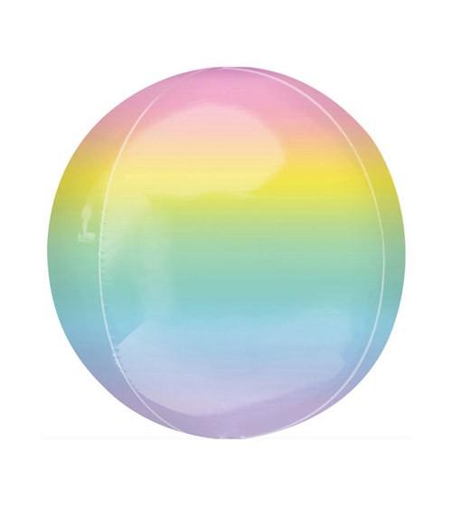 "Orbz-Folienballon ""Ombre"" - pastell - 38 x 40 cm"