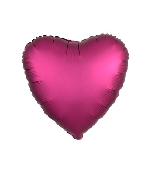 "Herz-Folienballon ""Satin Luxe"" – pink – 43 cm"