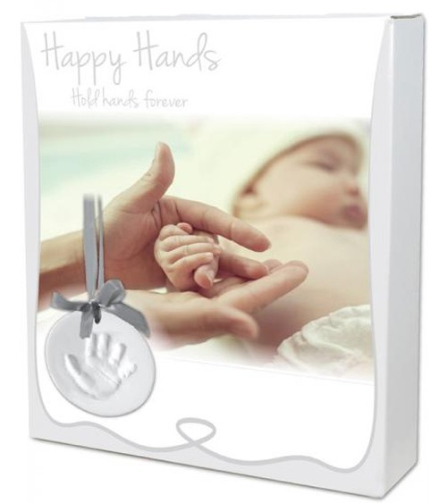 "Handabdruck-Set ""Happy Hands"" - silber"