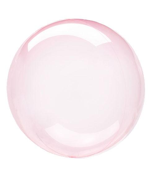 "Kugel-Folienballon ""Clearz Crystal"" - pink - 45-56 cm"