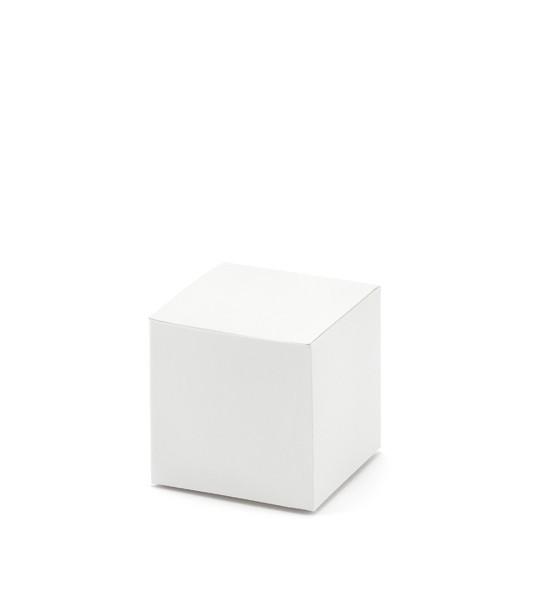 """Gastgeschenkboxen """"Würfel"""" - weiß - 10 Stück"""