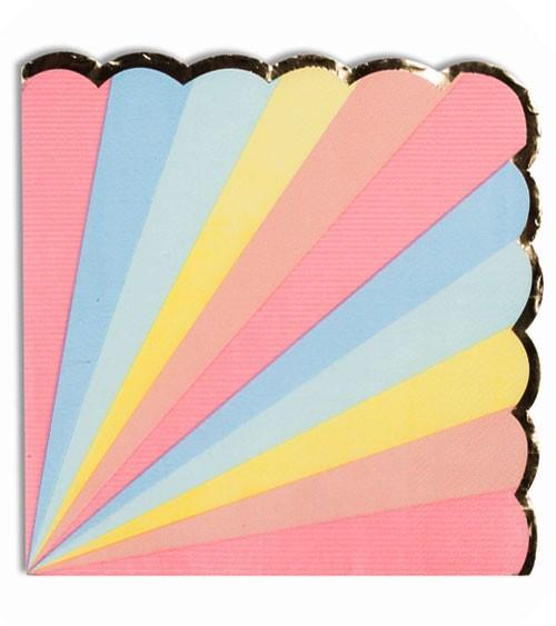 """Servietten mit Goldrand """"Colour Wheel"""" - 16 Stück"""