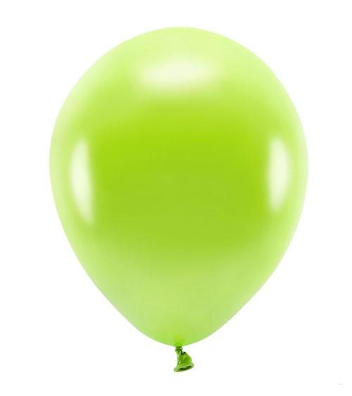 Metallic-Ballons - apfelgrün - 30 cm - 10 Stück