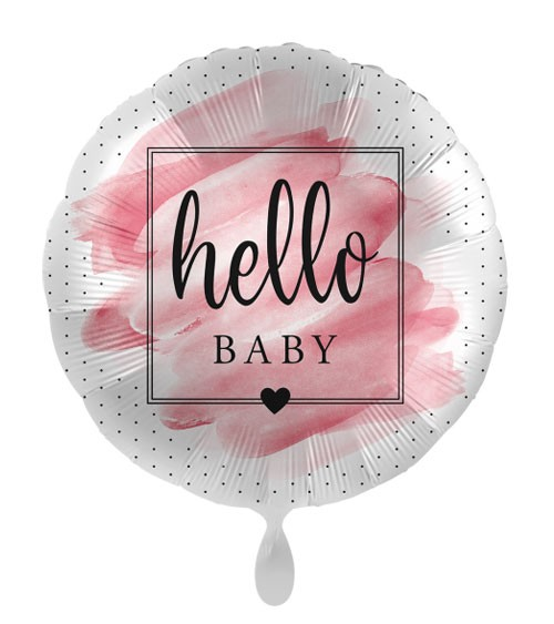 "Folienballon ""Welcome to the World, Baby Girl"""