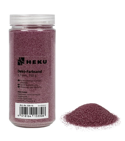 Deko-Farbsand - 750 g - bordeaux