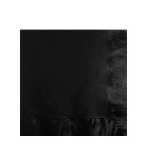 Cocktail-Servietten - schwarz - 50 Stück