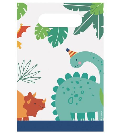 """Partytüten aus Papier """"Happy Dino Birthday"""" - 8 Stück"""
