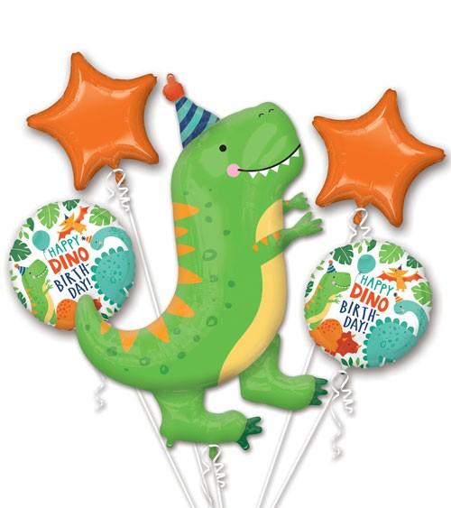 """Folienballon-Set """"Dino-Birthday"""" - 5-teilig"""