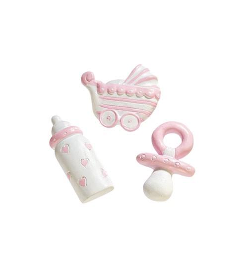 """Baby-Streuteile """"Mädchen"""" - 3 cm - 3-teilig"""