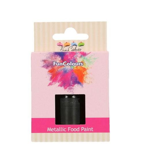 FunCakes Lebensmittelfarbe - metallic schwarz - 30 ml