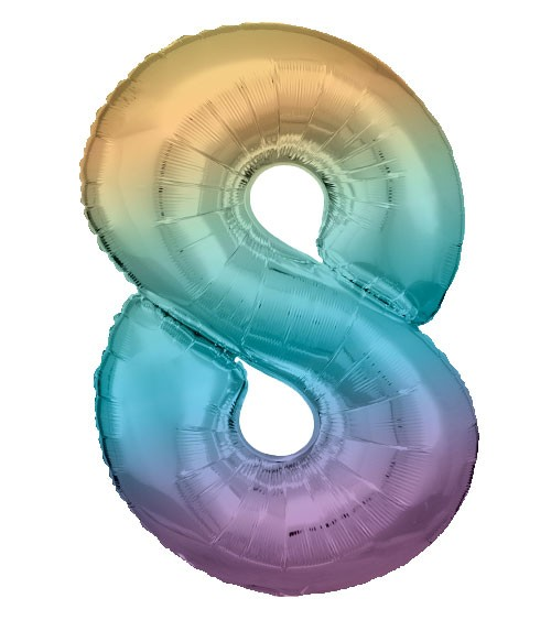 "Supershape-Folienballon ""8"" - Rainbow - 83 cm"