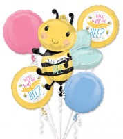 "Folienballon-Set ""What will it Bee?"" - 5-teilig"