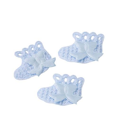 """Streuteile """"Baby-Schühchen"""" - hellblau - 3,5 cm - 10 Stück"""