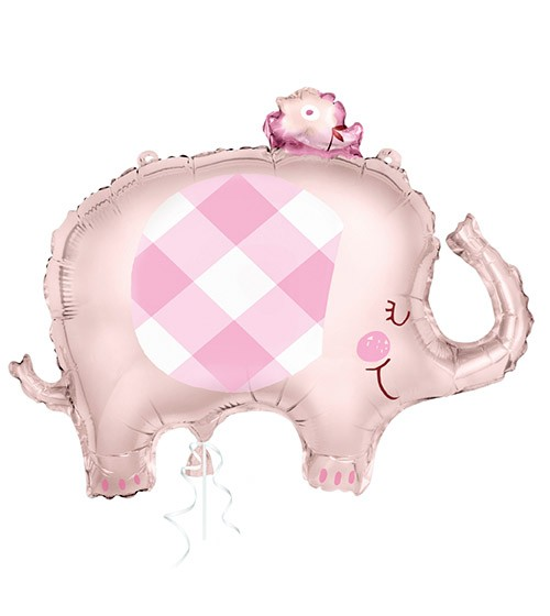 "Supershape-Folienballon ""Floral Elephant"" - rosa - 73,6 cm"